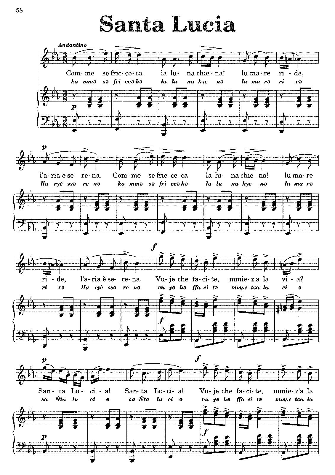 santa lucia cottrau teodoro imslp petrucci music library