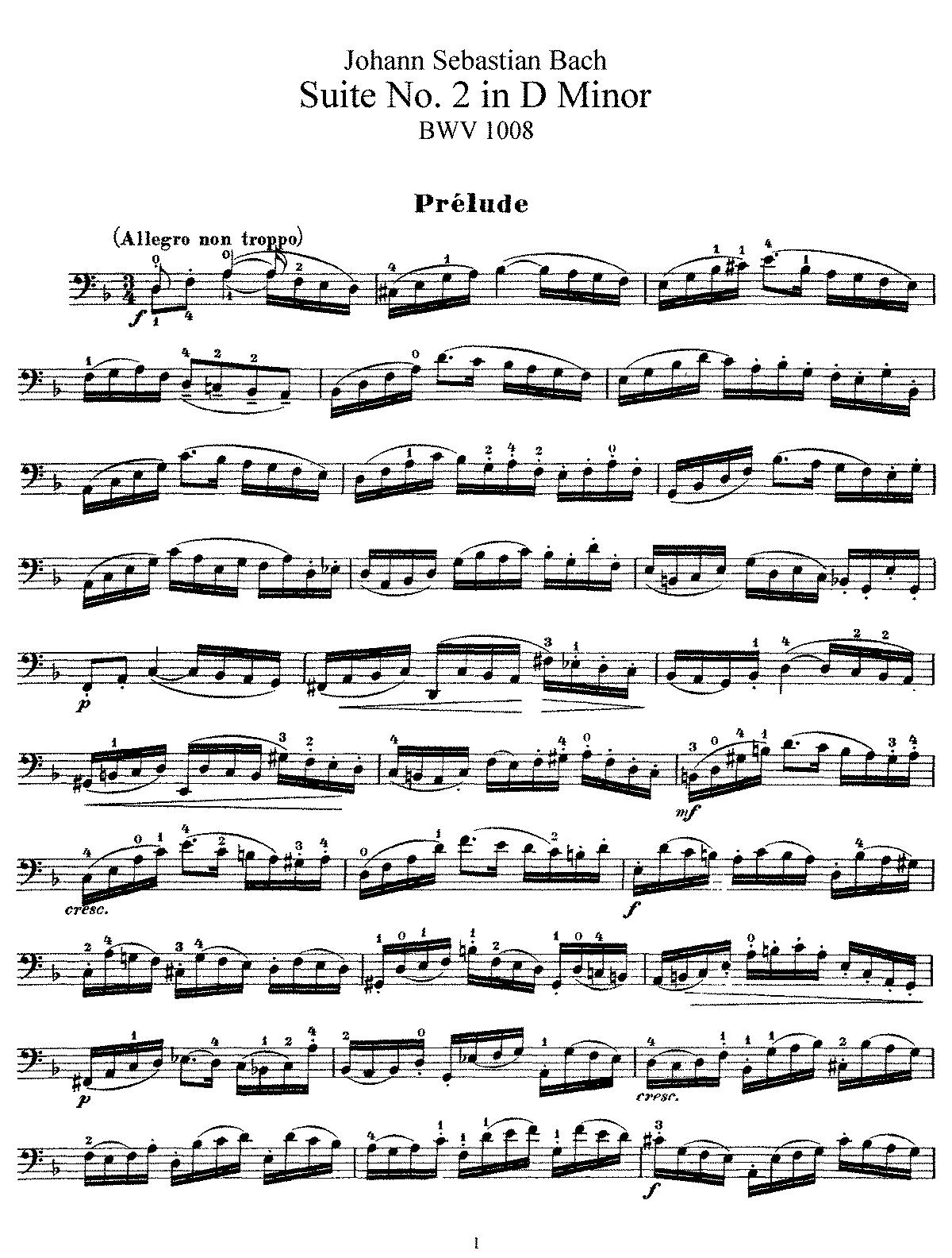 Bach Cdello Suite Suzuki