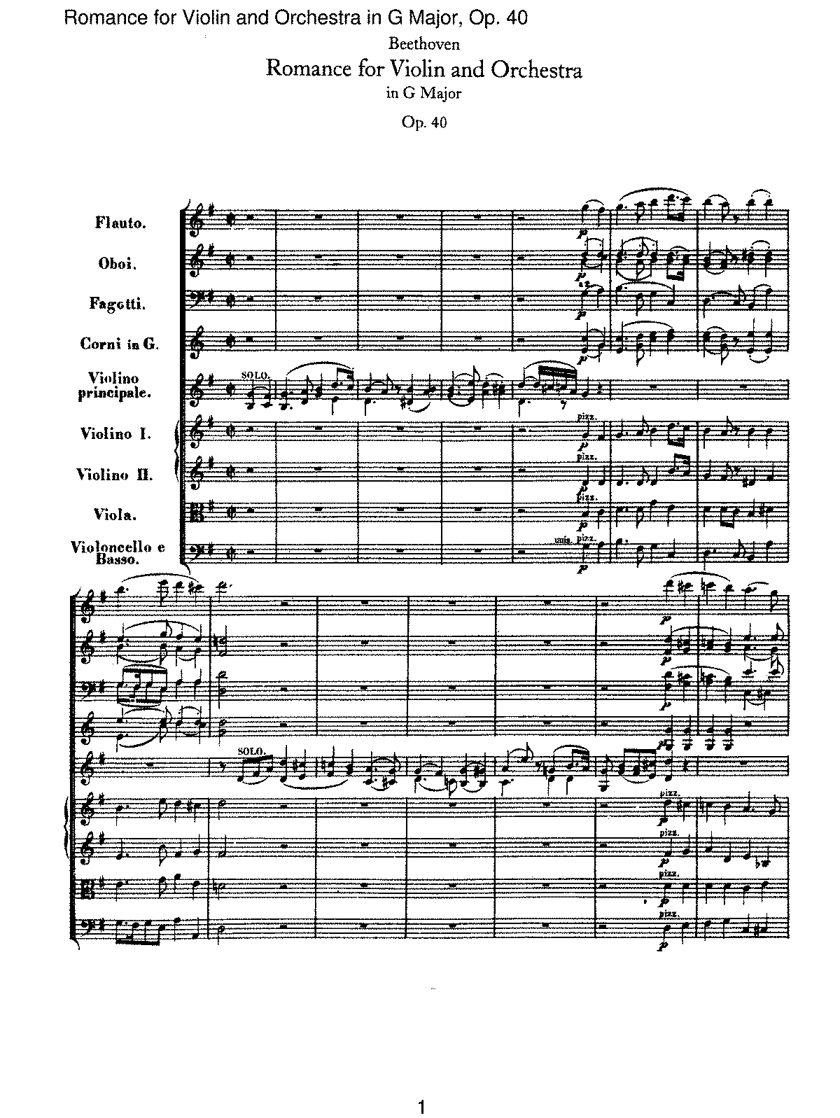 Beethoven - Romance for Violin and Orchestra in G Major, Op 40.pdf
