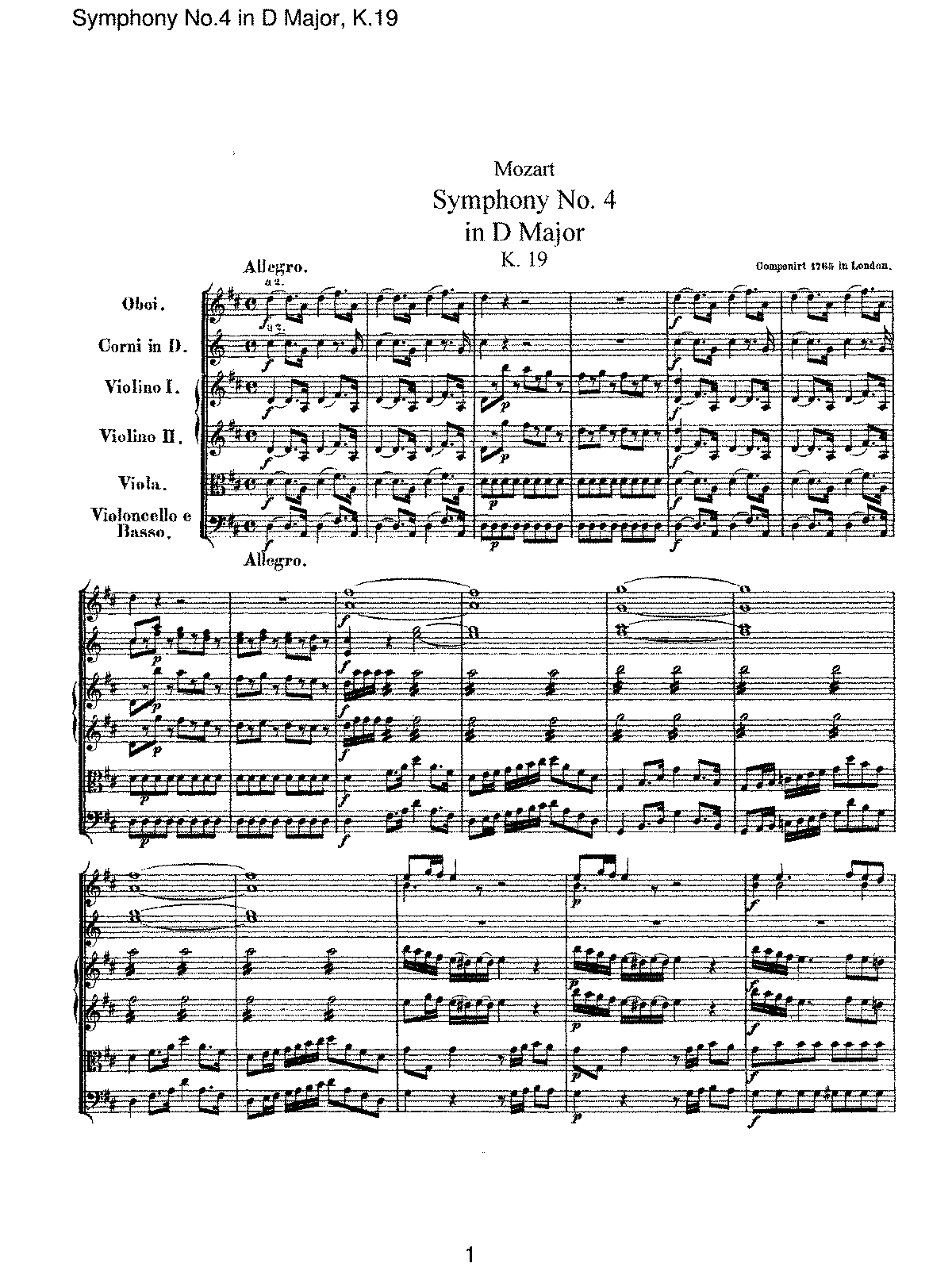 Mozart - Symphony No 04 in D Major, K19.pdf