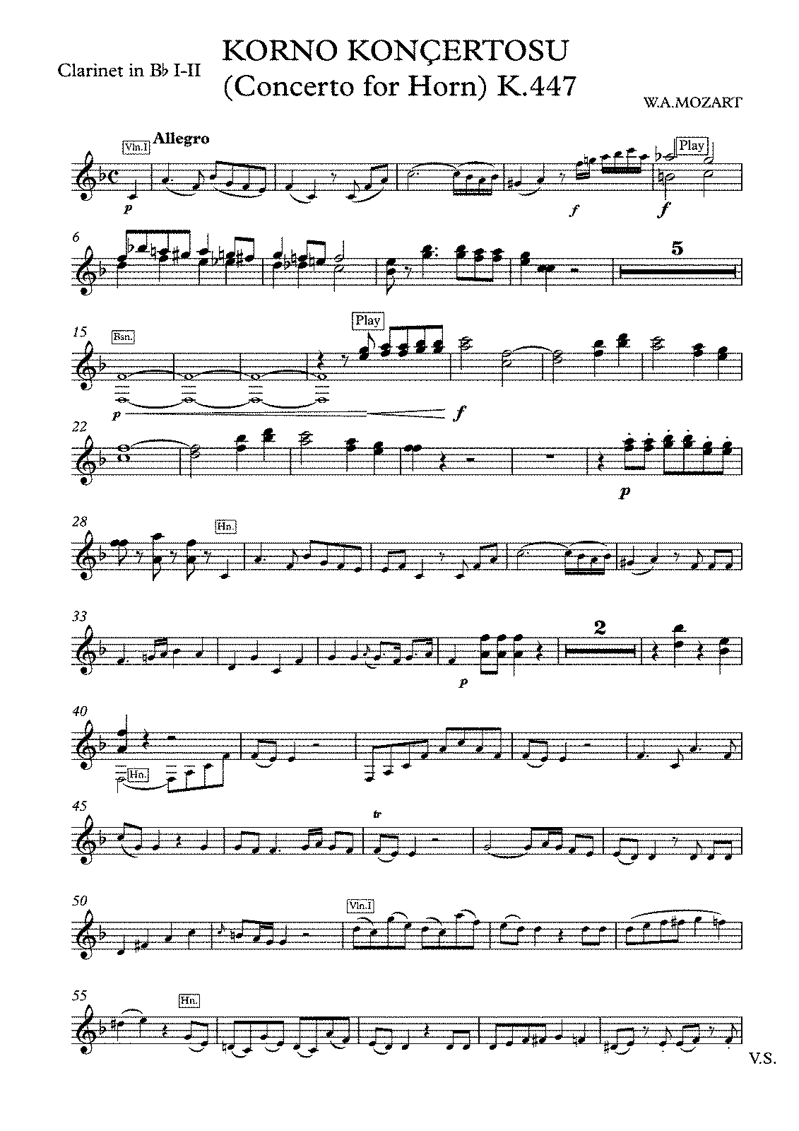 PMLP04594-Concerto in Eb For Horn (Extract Parts) - Clarinet in Bb I-II.pdf