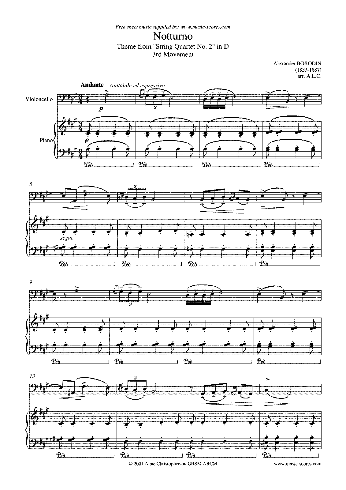Borodin - Theme from Quartet No. 2, 3rd mvt (Cello & Piano).pdf