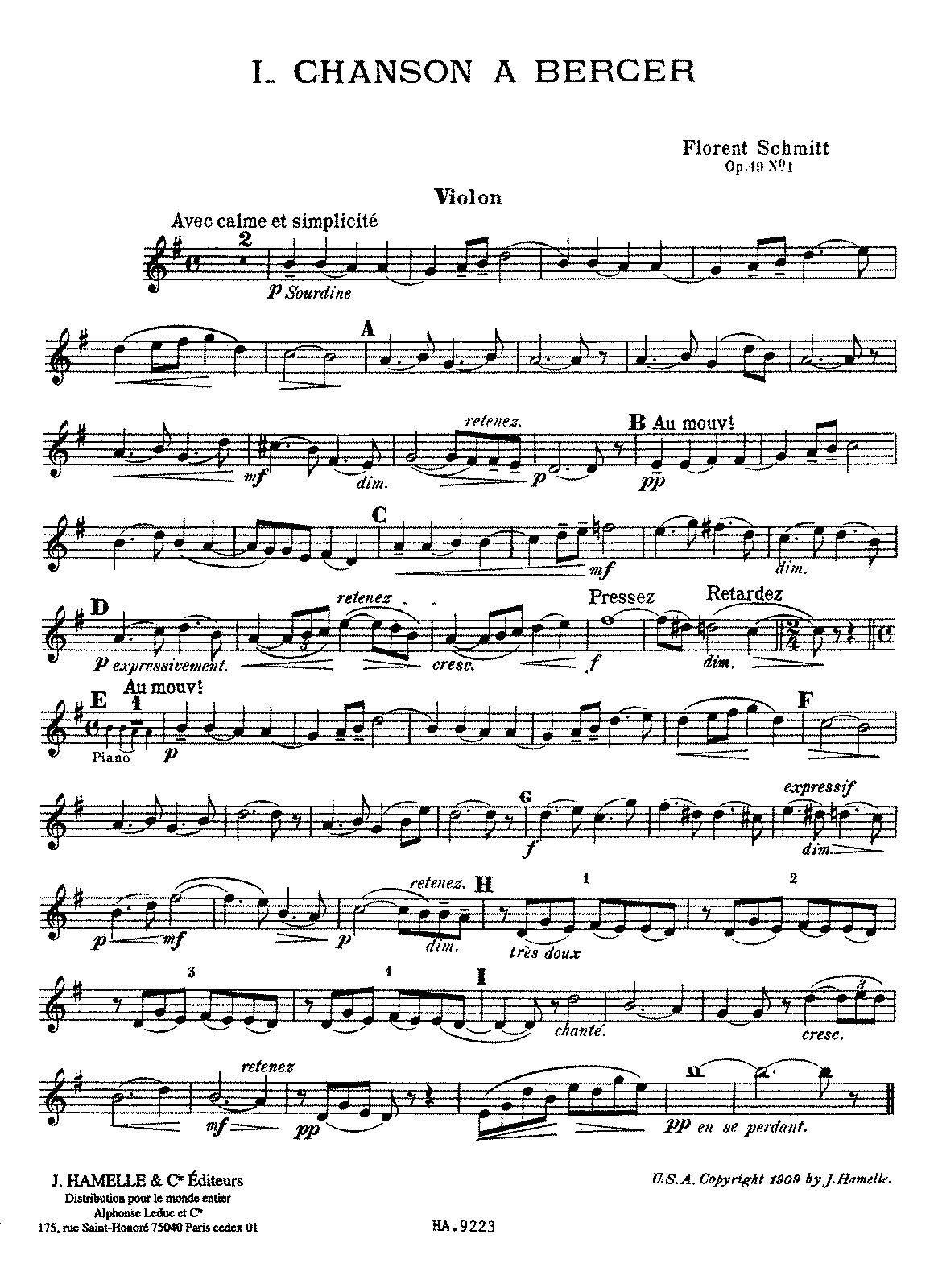 PMLP55465-Schmitt - 5 Pièces, Op. 19, No. 1 - Chanson à bercer (violin or cello and piano).pdf