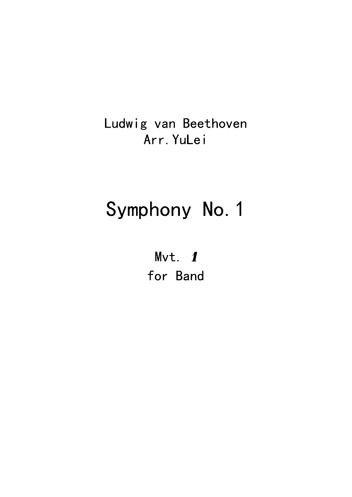 PMLP01582-Symphony No 1 in C Major for band,Op 21 - 乐谱和分谱.pdf