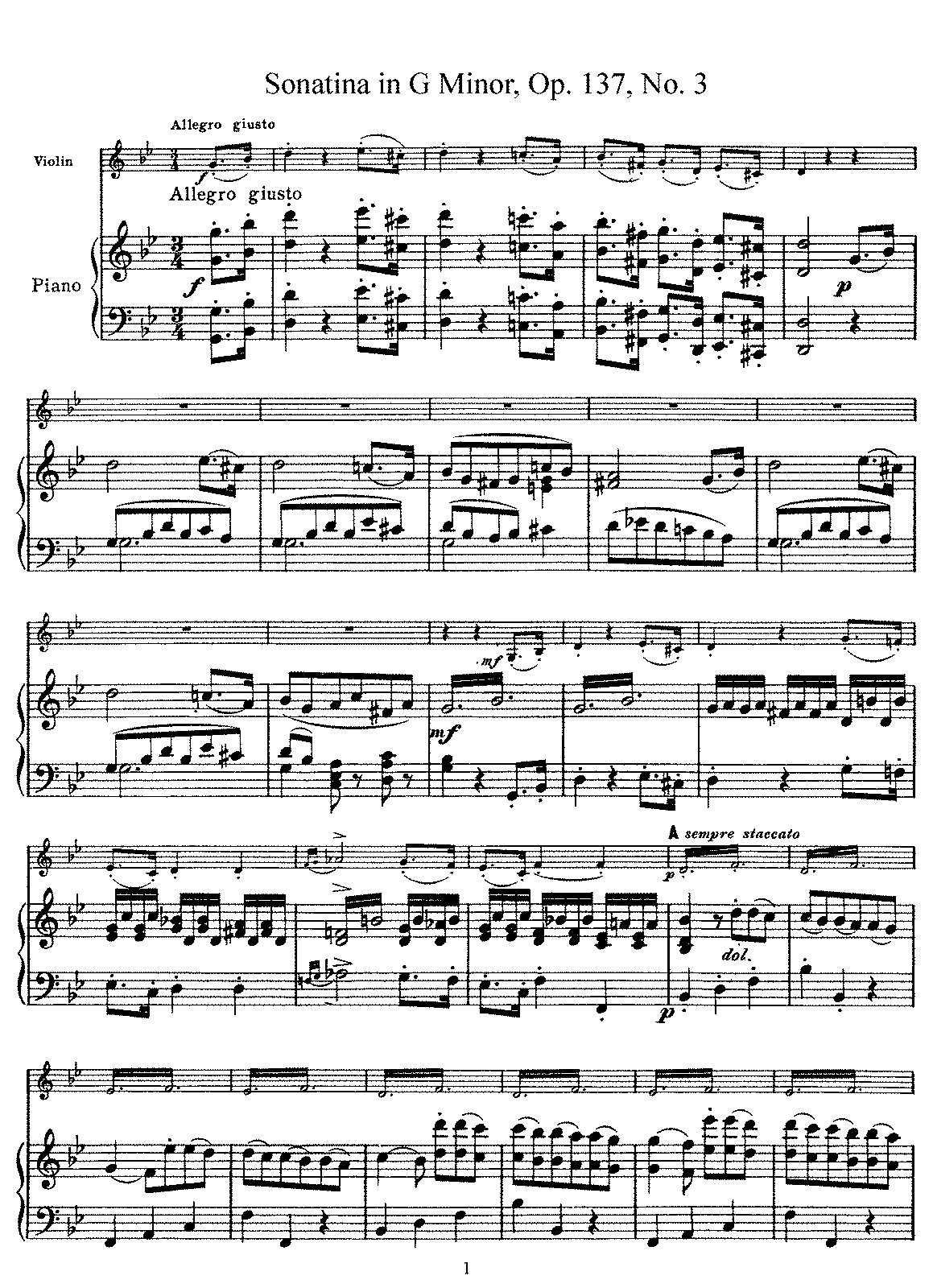 Schubert - D.408 - Violin Sonatina in G minor (Op.137 No.3).pdf