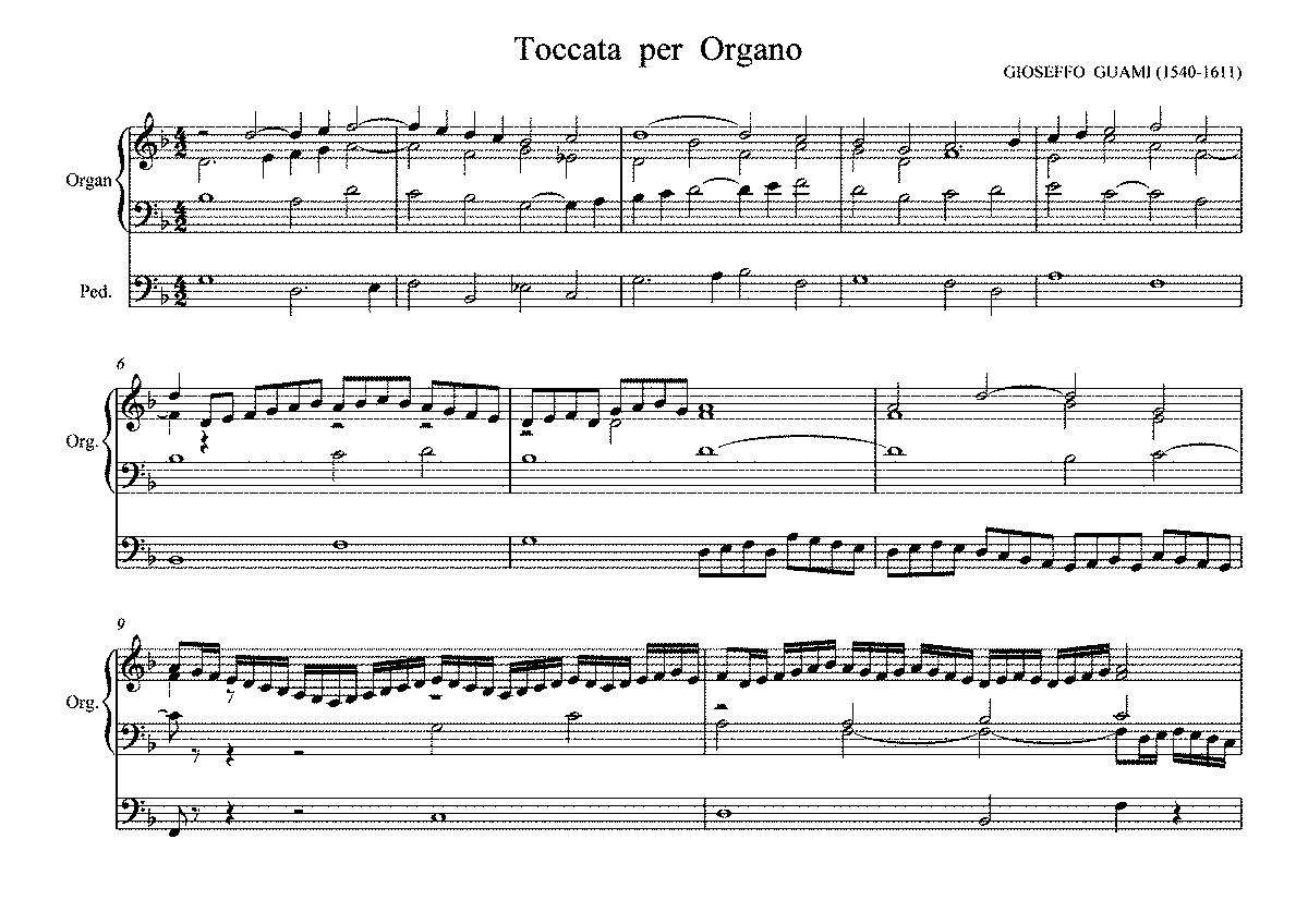 Canon In D Number Notes