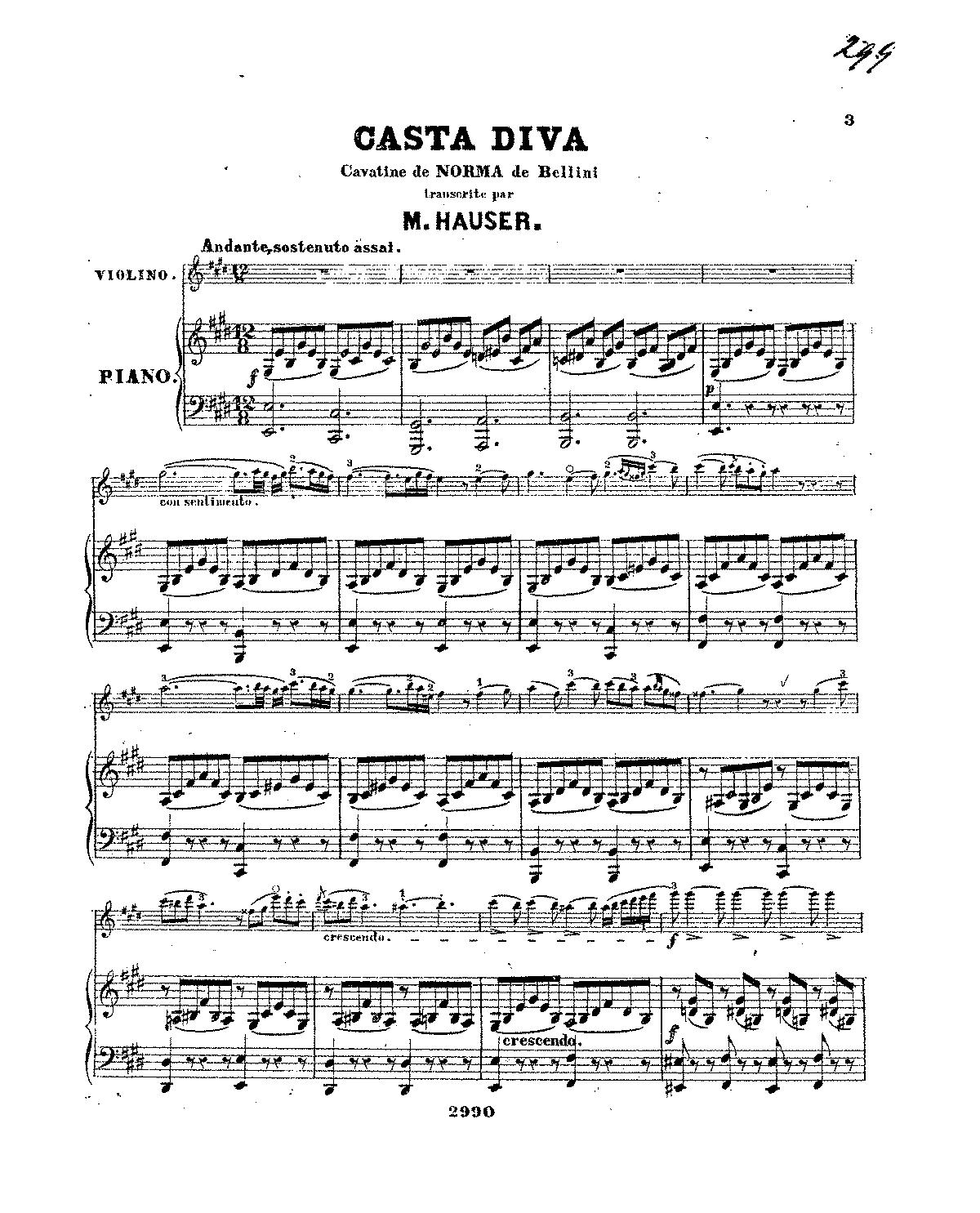Norma bellini vincenzo imslp petrucci music library - Norma casta diva testo ...