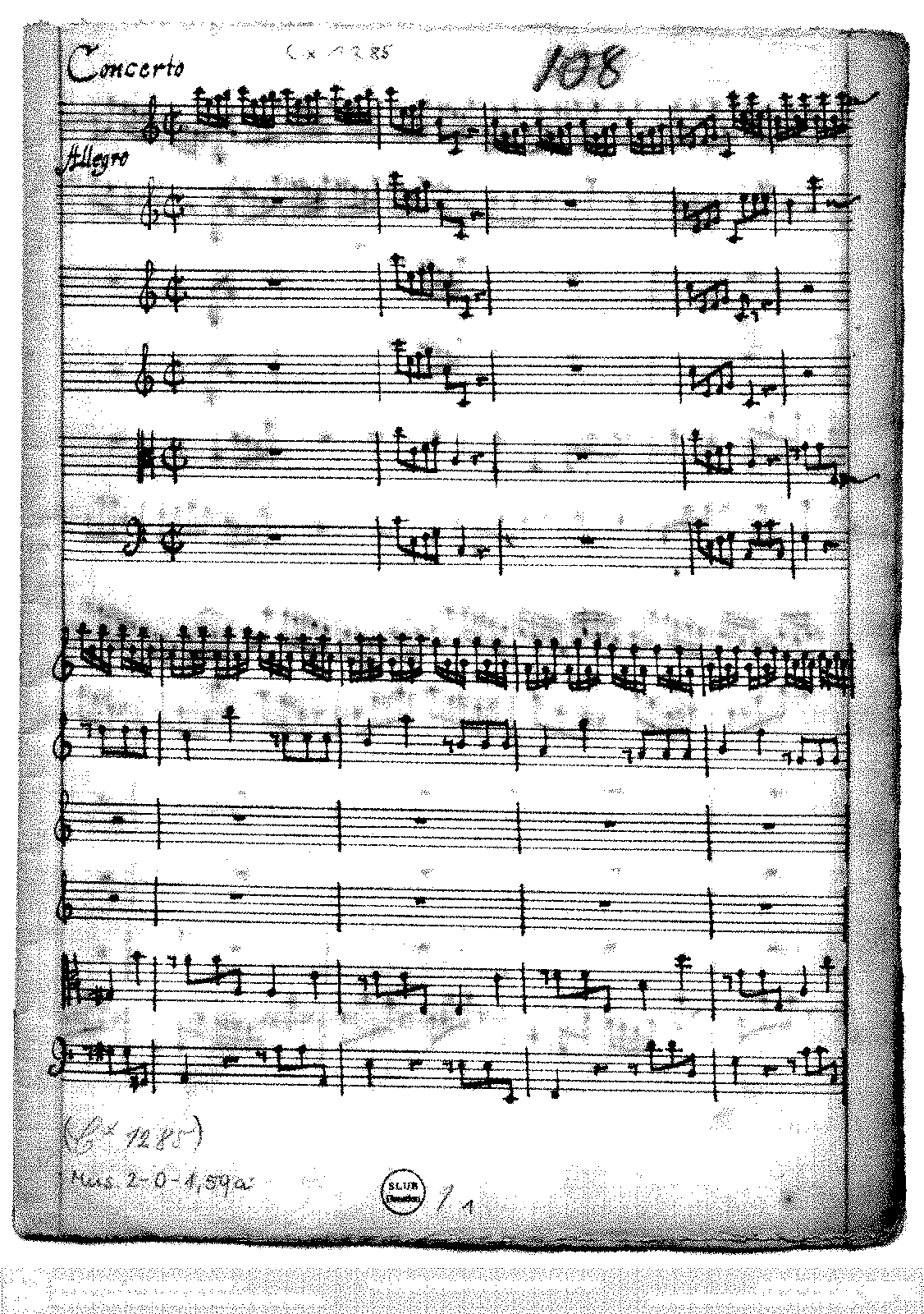 Concerto For 2 Violins In C Major Schrank II 33 102 Anonymous