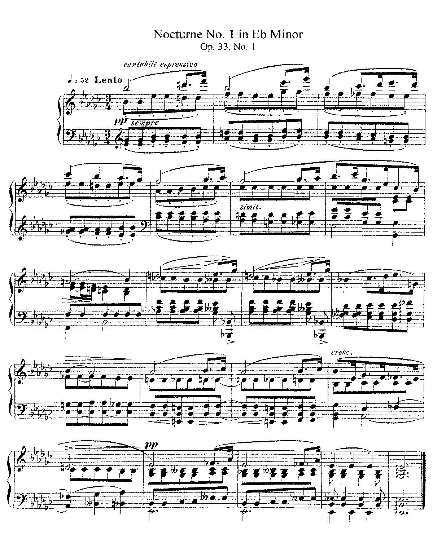 nocturne e flat major sheet