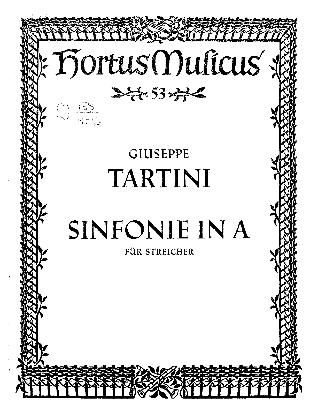 sinfonia in a major c 538 tartini giuseppe imslp petrucci
