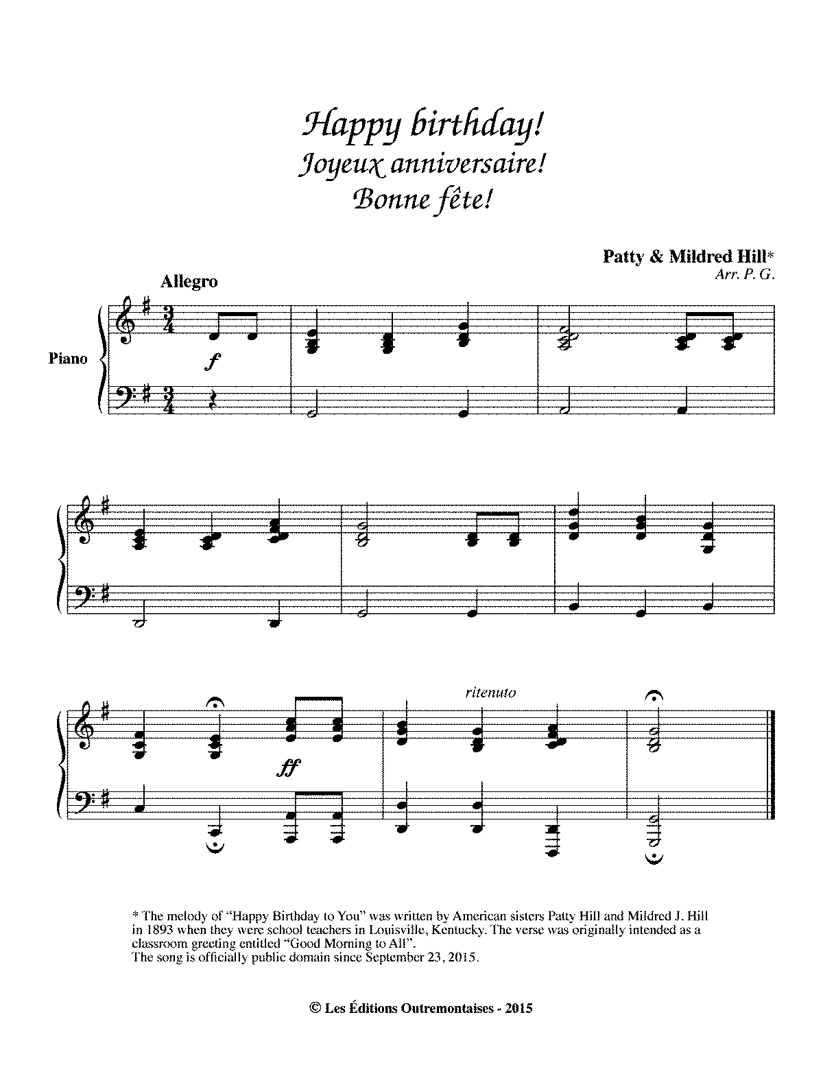 how to play piano song happy birthday