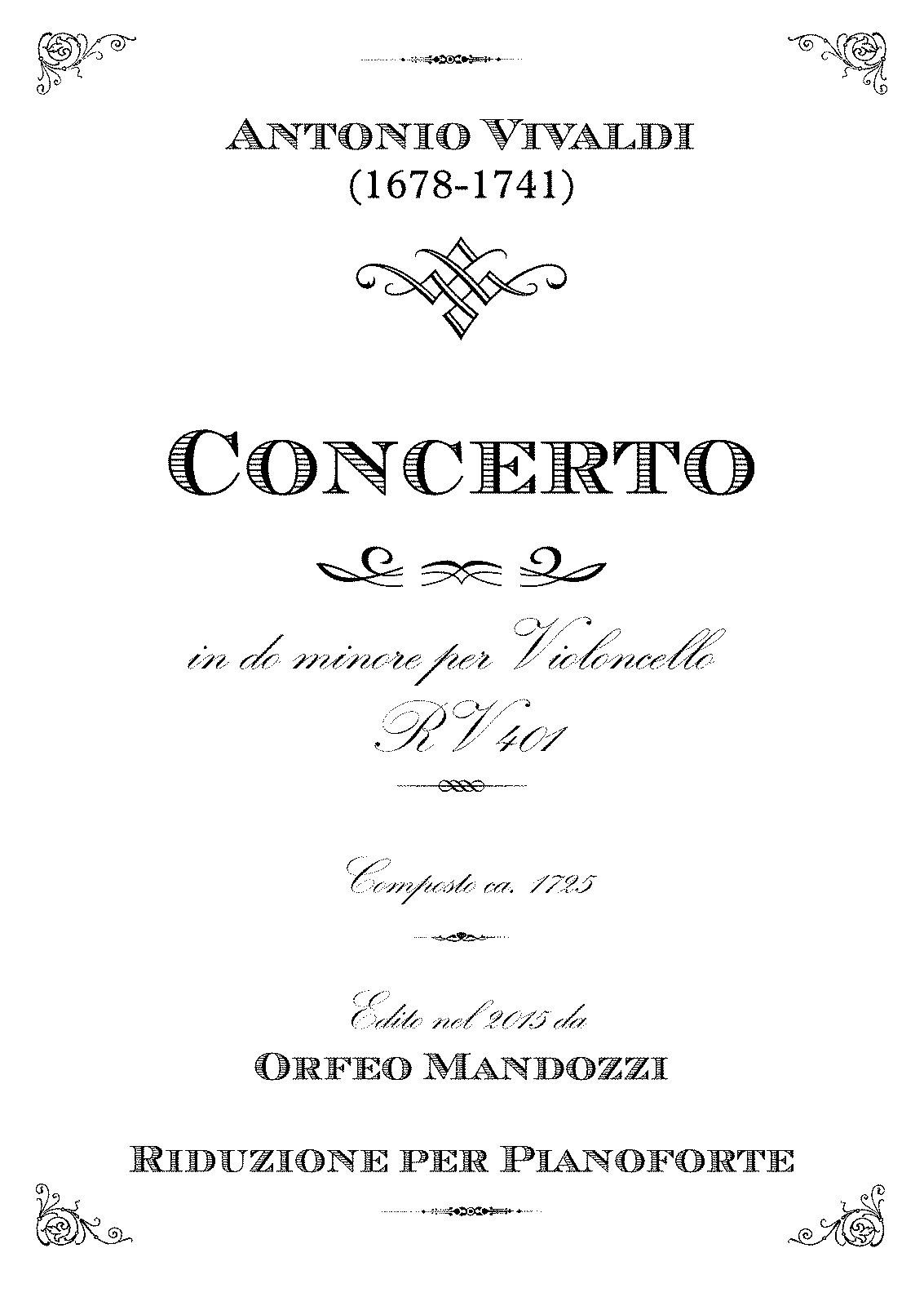 PMLP431310-Vivaldi Cello Concerto C Minor RV401 Mandozzi Vc Kl - Partitur.pdf
