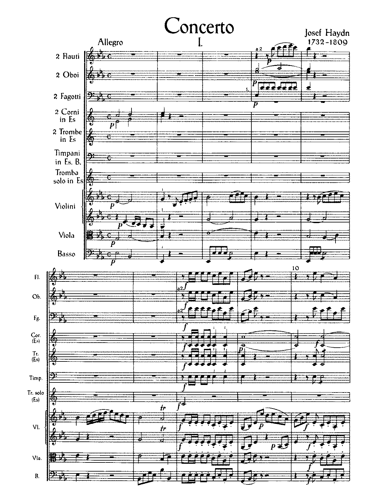 Haydn - Trumpet Concerto (Full Score - one page per image).pdf