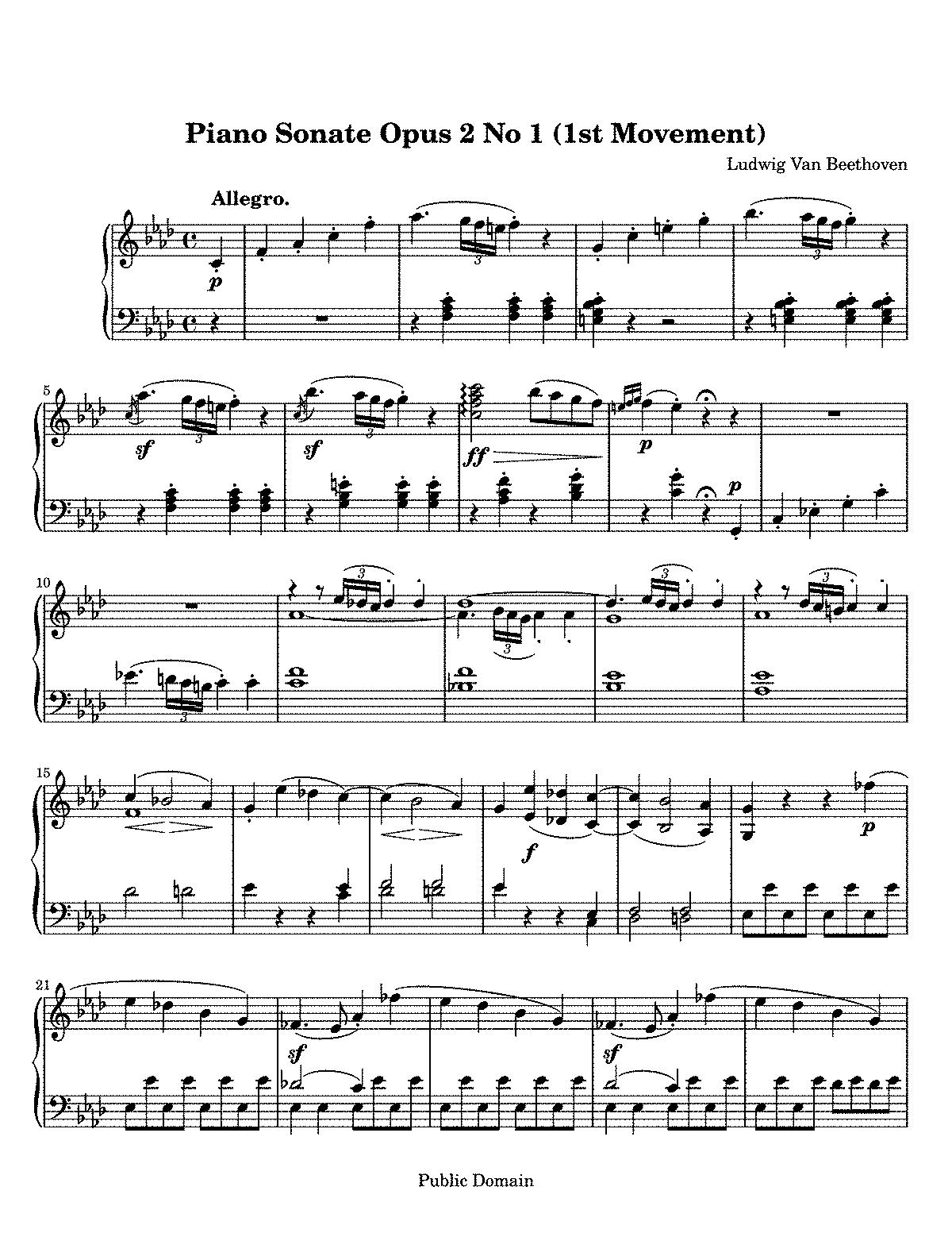 Piano sonata no1 op2 no1 beethoven ludwig van imslp selections hexwebz Image collections