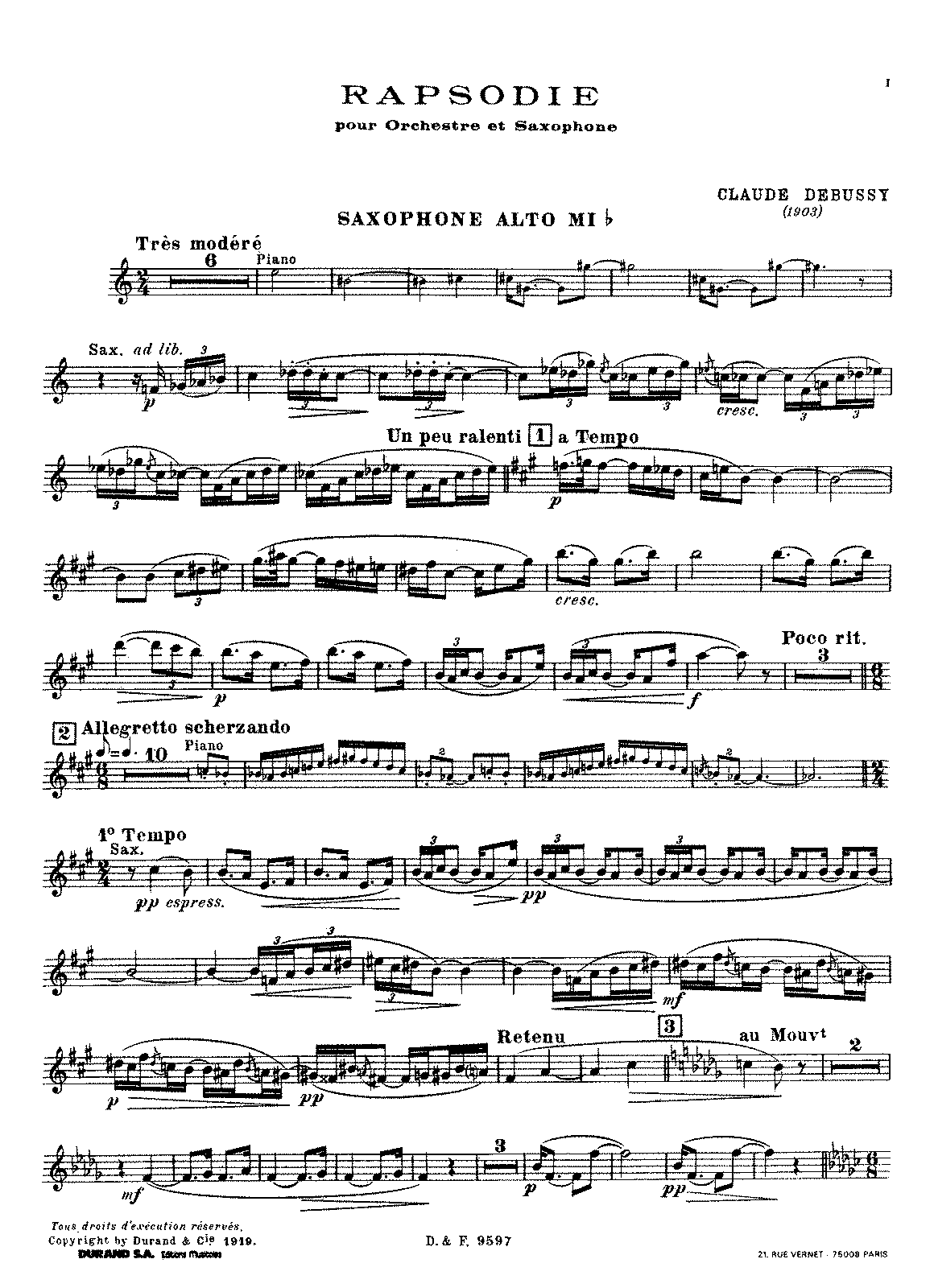 Debussy - Rapsodie for Orchestra and Saxophone (sax. and piano).pdf
