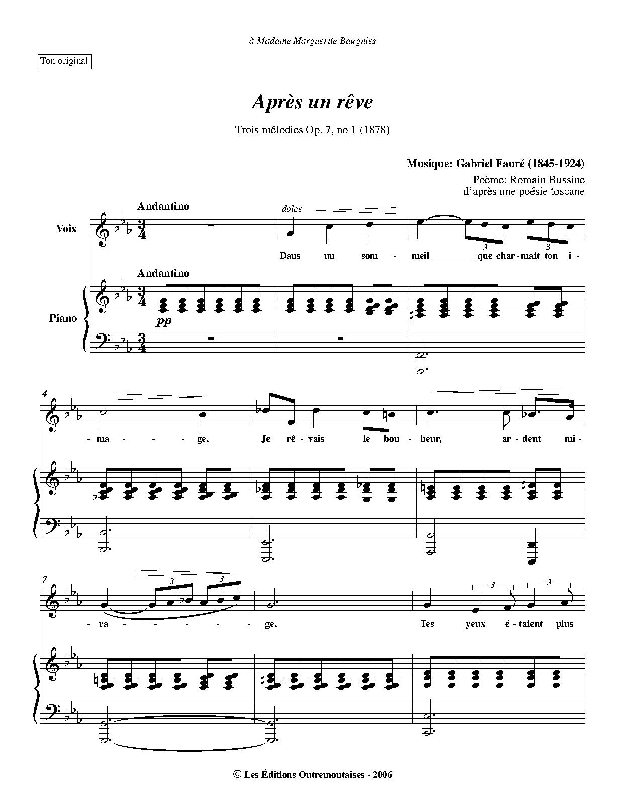 Souvent 3 Songs, Op.7 (Fauré, Gabriel) - IMSLP/Petrucci Music Library  GO34