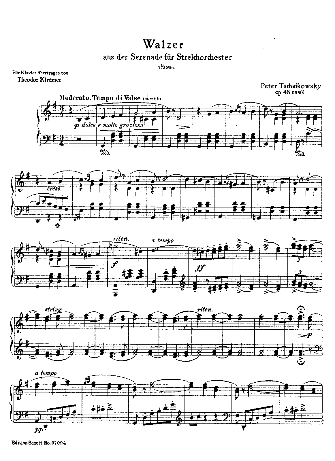 Kirchner-Tchaikovsky - Op.48 - Valse from Serenade for Strings.pdf