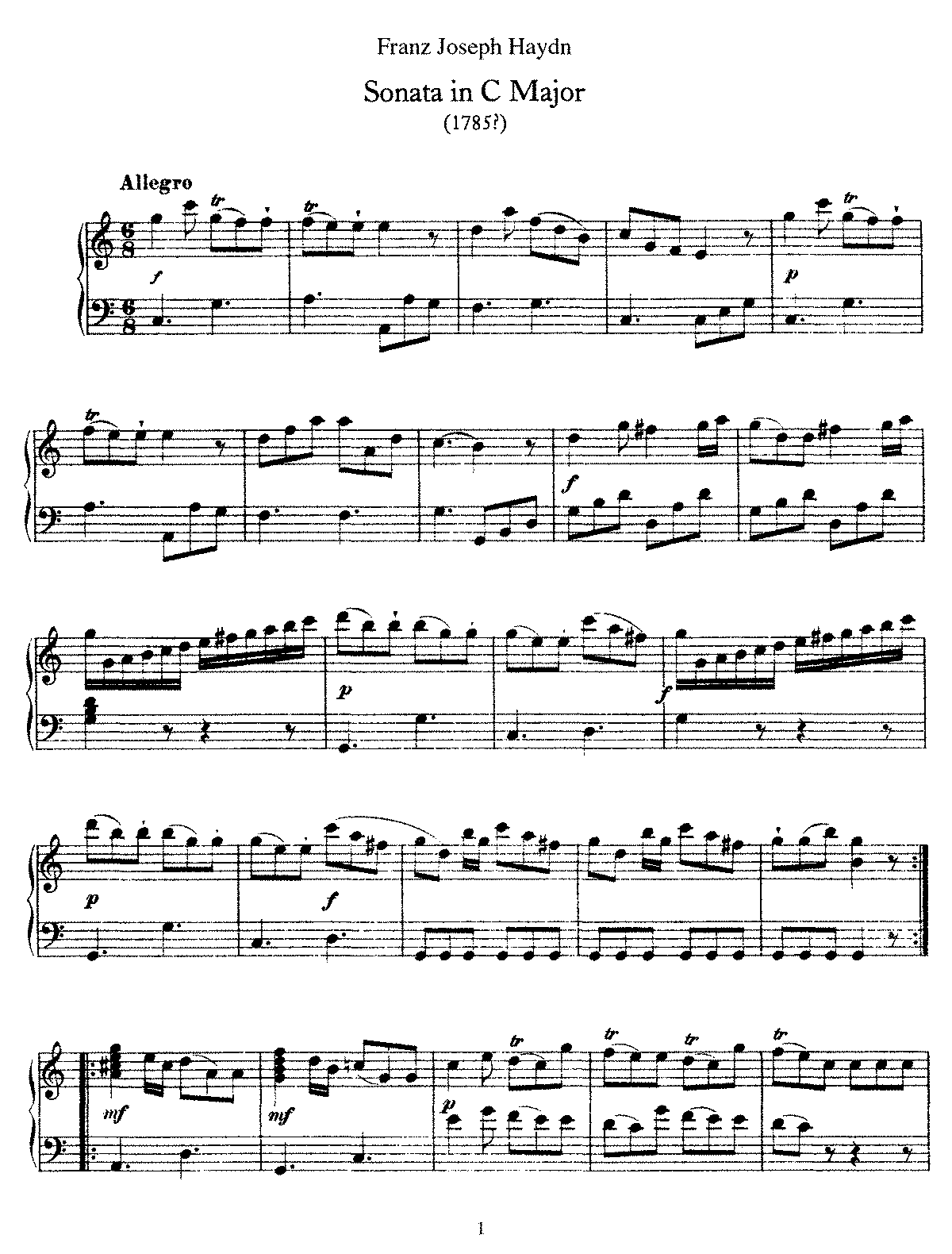 Haydn - Piano Sonata No 15 in C.pdf
