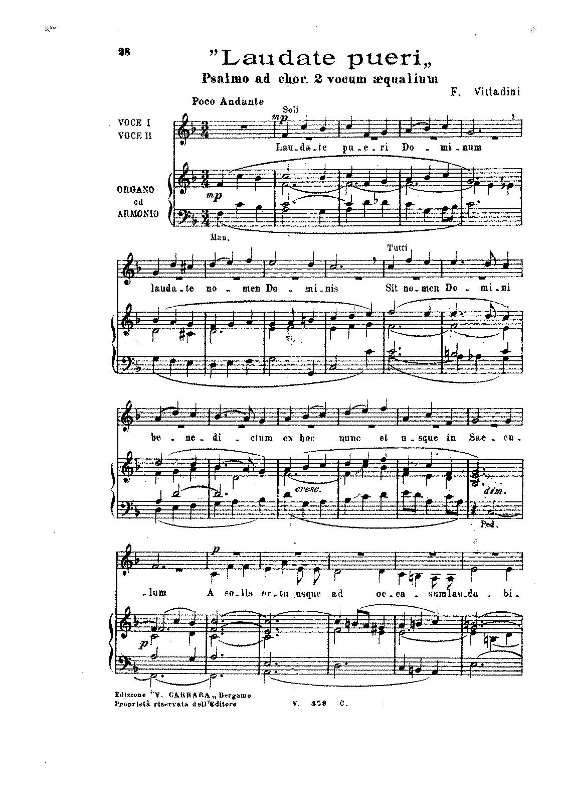 Gambar Terkait Untuk Laudate Pueri Dominum Bournonville Jacques De Imslp Petrucci Music Library Free Public Domain