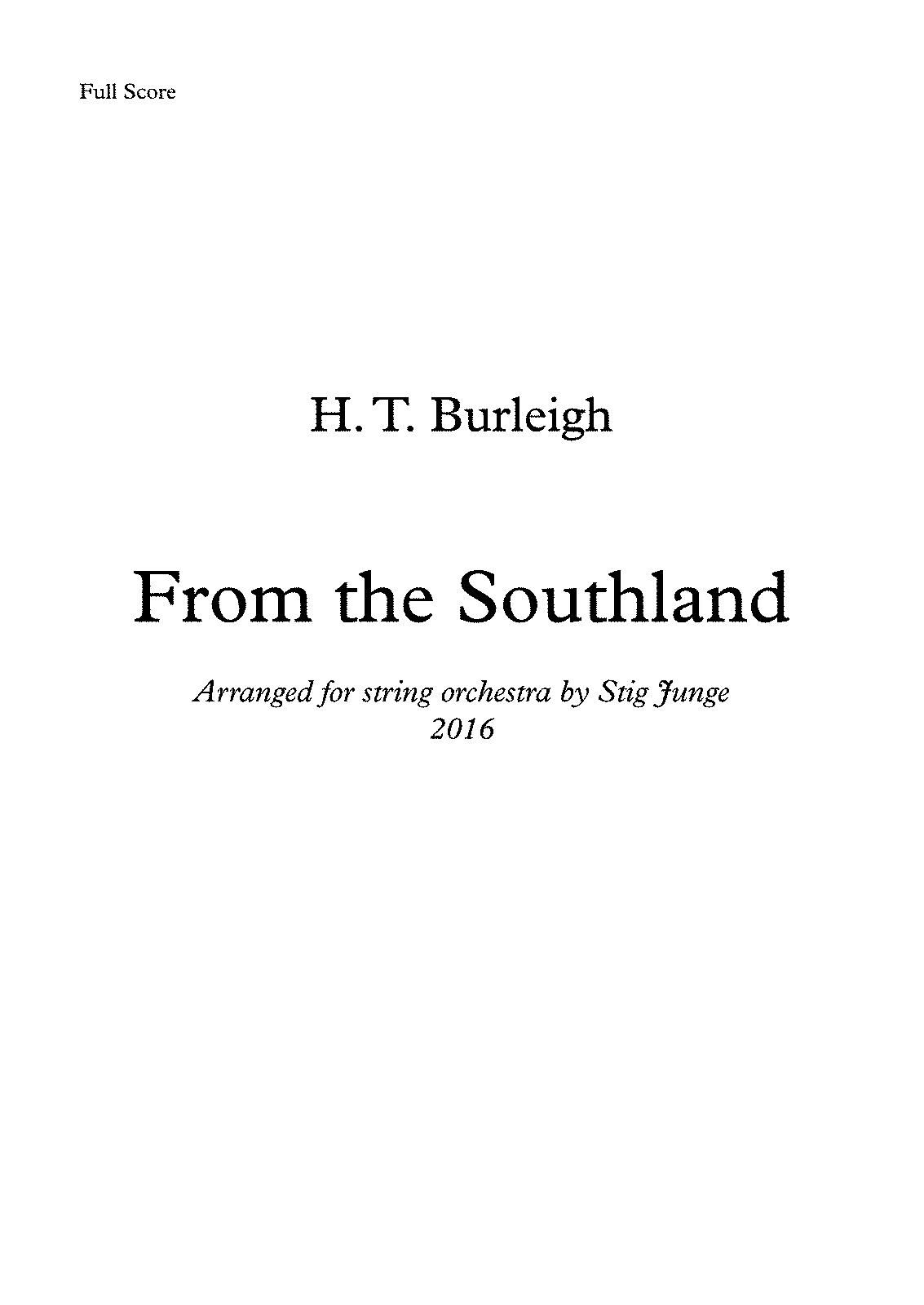 PMLP443541-Burleigh - From the Southland, arranged for string orchestra - Full Score.pdf