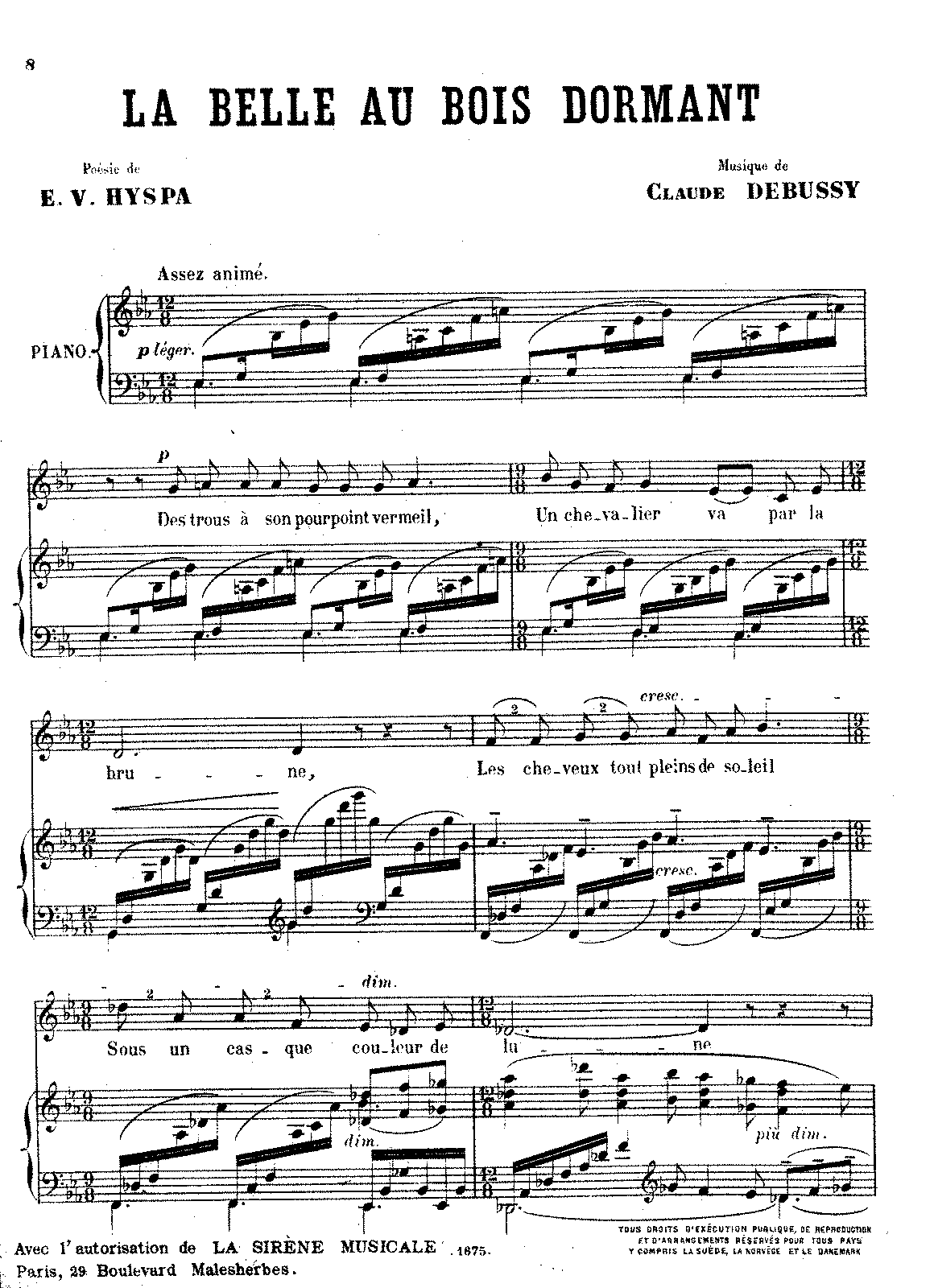 Debussy - La Belle au Bois Dormant (voice and piano).pdf