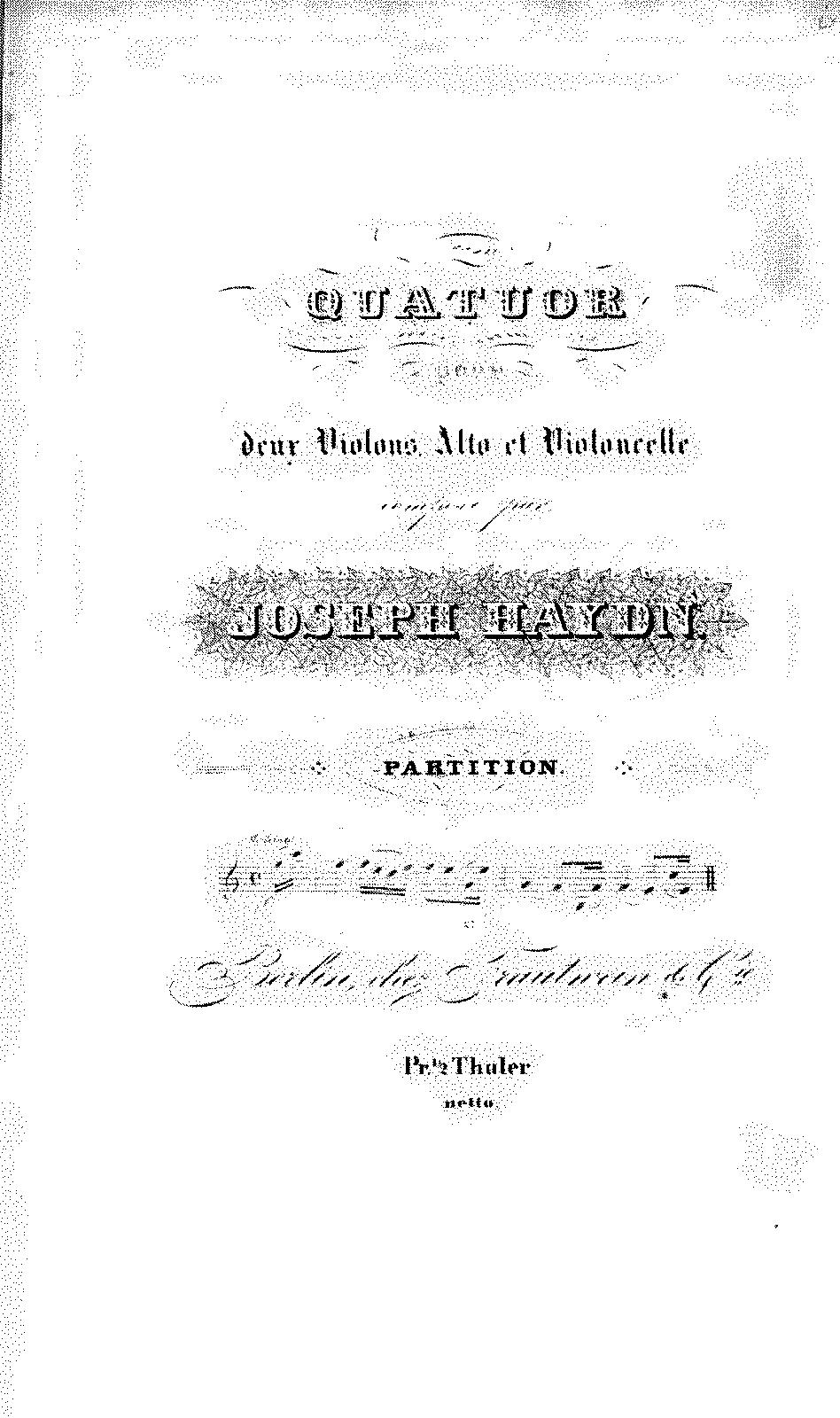 String Quartets Op9 Haydn Joseph
