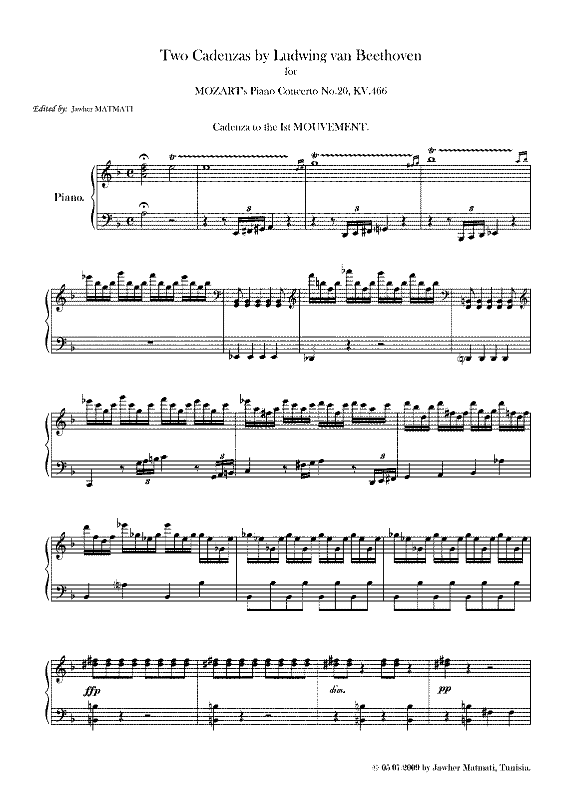 PMLP15389-2 Cadenzas by L.van Beethoven for Mozart's Piano Concerto No.20, KV.466.pdf