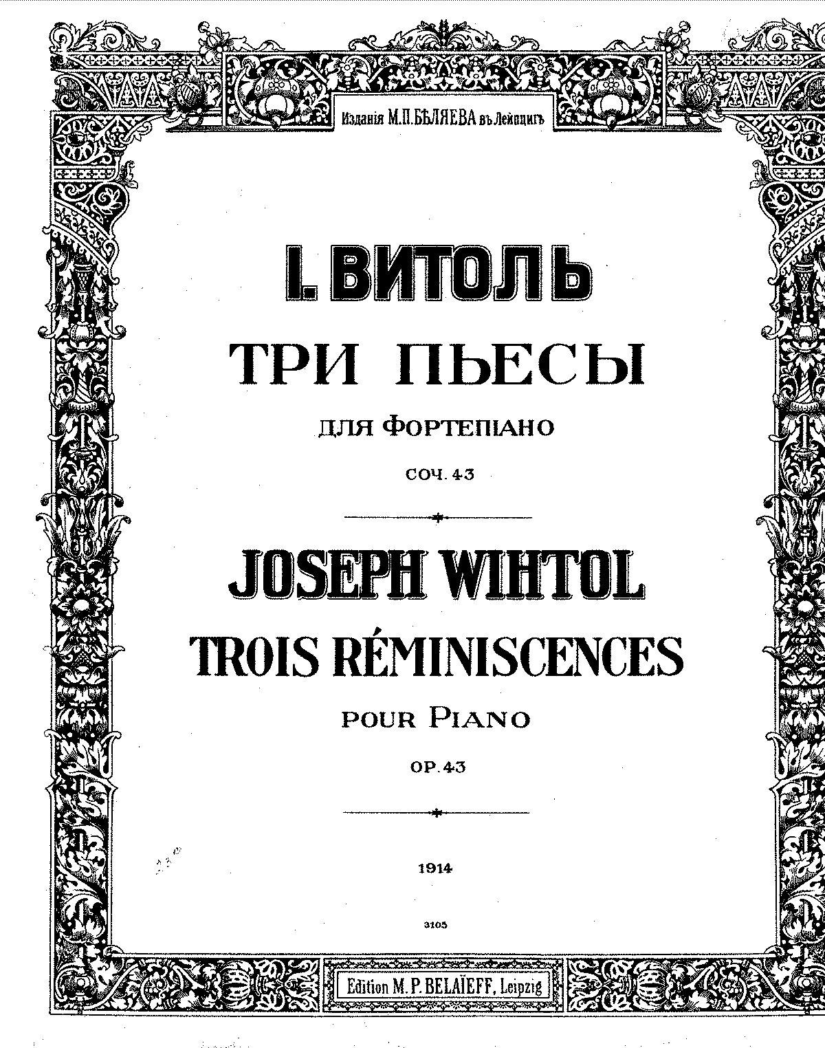 Wihtol - Op.43 - 3 Reminiscences.pdf
