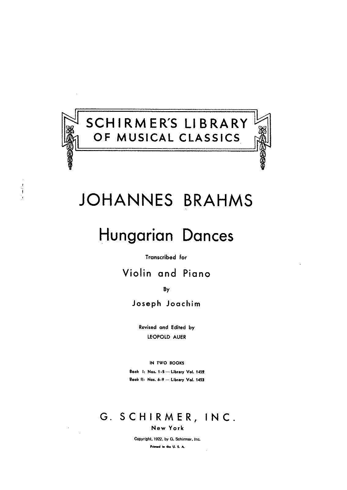 PMLP16016-Brahms - Hungarian Dances (Joachim - Auer) for violin and piano vol1 (Nos 1-5) score.pdf