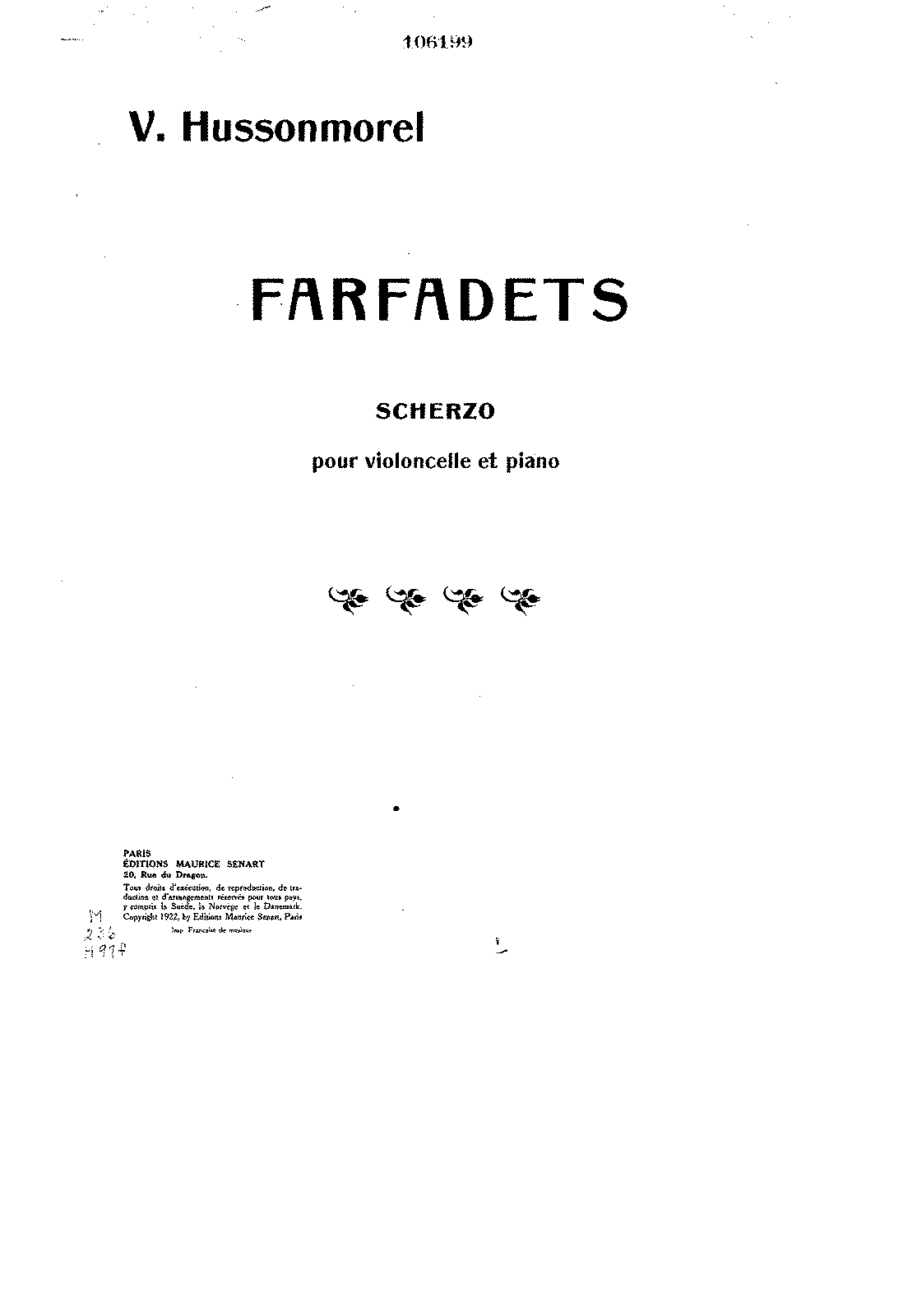 PMLP142619-Hussonmorel - Farfadets Scherzo for Cello and Piano (Extrait from Sonate for solo Cello 2nd cello ad lib) piano score.pdf