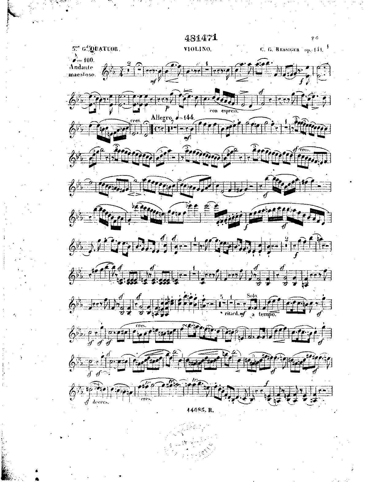Reissiger Piano Quartet No.5 violin.pdf
