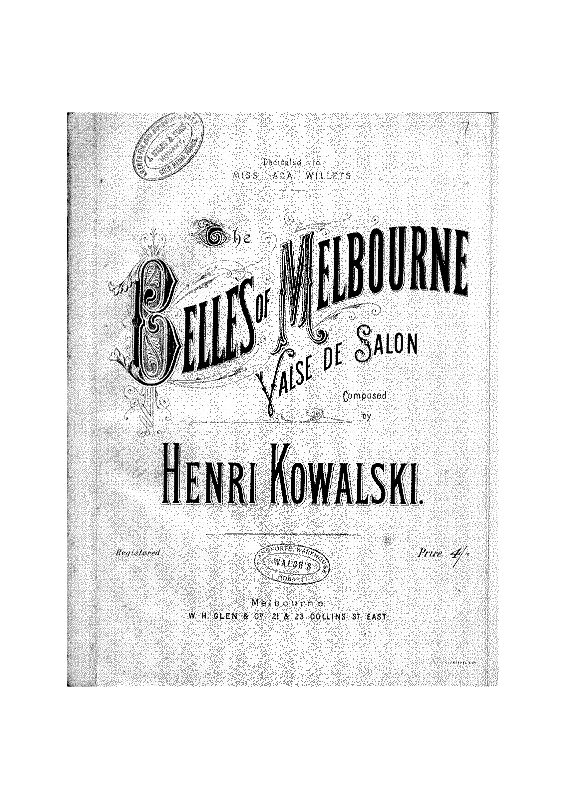 Kowalski - Op.misc - Belles of Melbourne, Valse de Salon.pdf