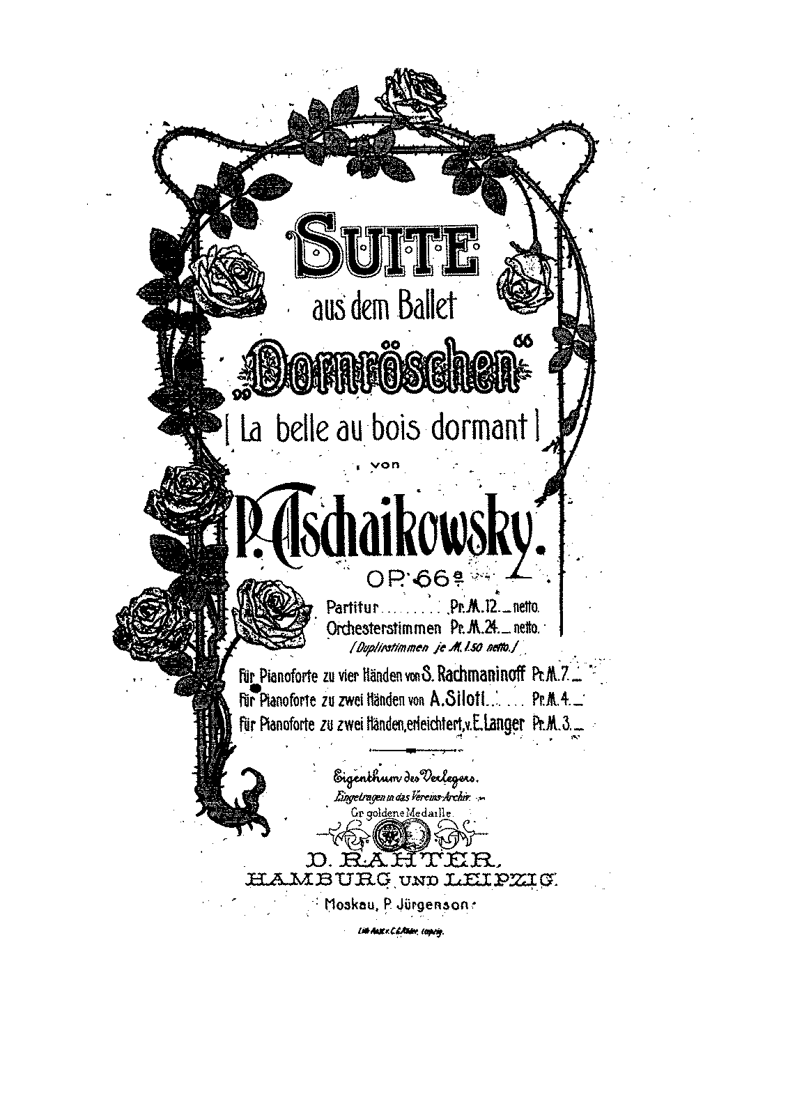 Tchaikovsky - Sleeping Beauty Suite - Piano Siloti.pdf