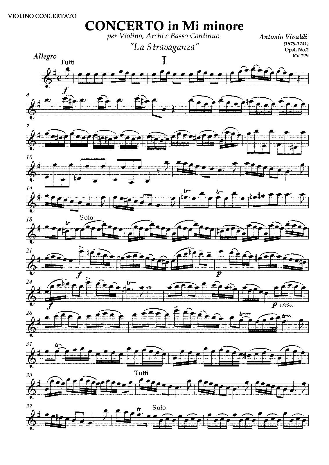 analysis of vivaldi violin concerto in Music - a complete analysis of the violin concerto no 1 in g minor, opus 26.