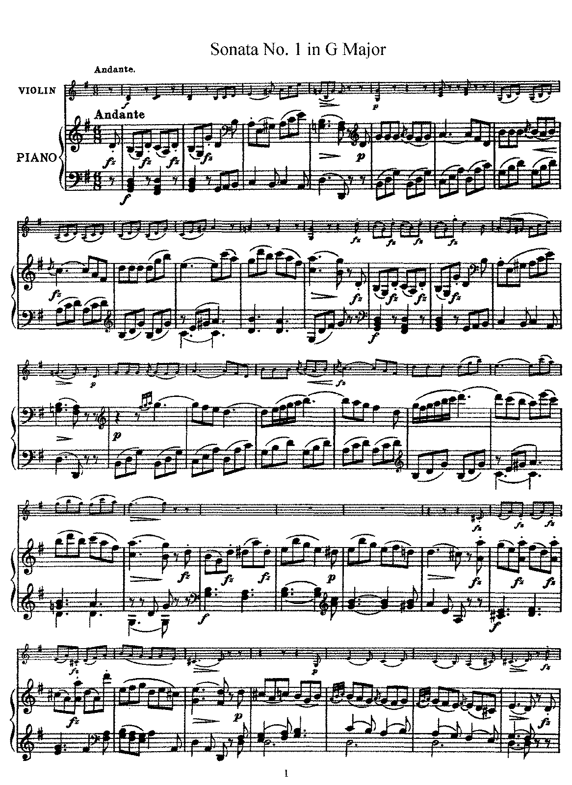Haydn - Violin Sonata No.1 in G Major.pdf