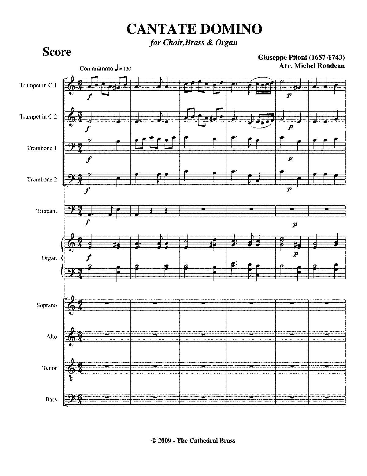 cantate domino giuseppe pitoni pdf