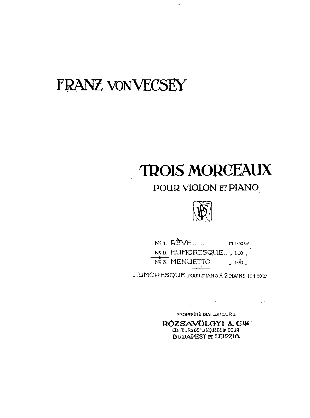 PMLP97429-Vecsey - Humoresque Violin and Piano.pdf