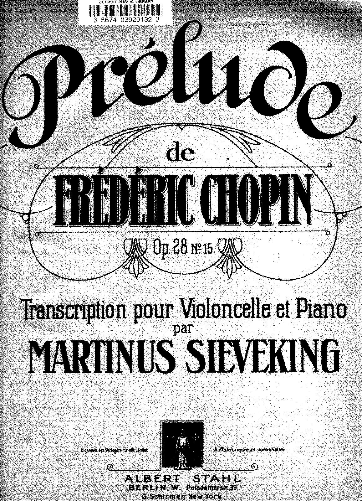 chopin preludes sheet music pdf