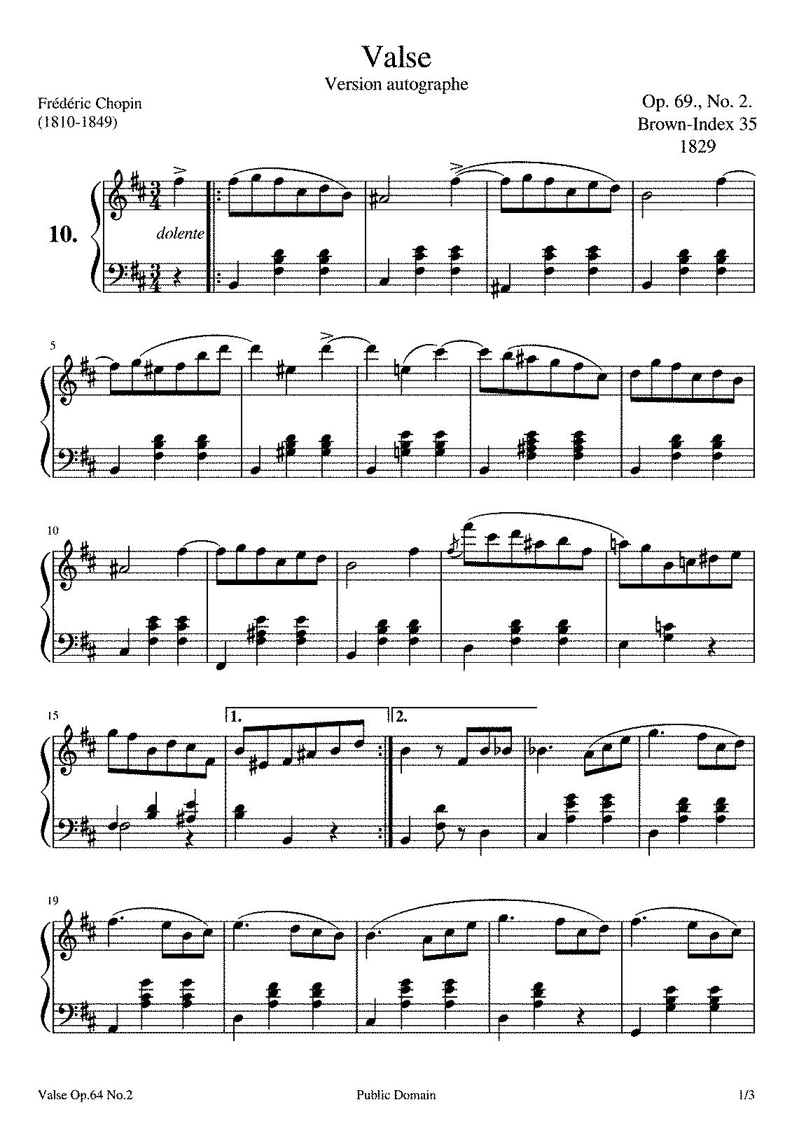 Frédéric Chopin - Waltzes Nos. 1-19 - Ecossaises Op. 72 - Tarantelle Op. 43