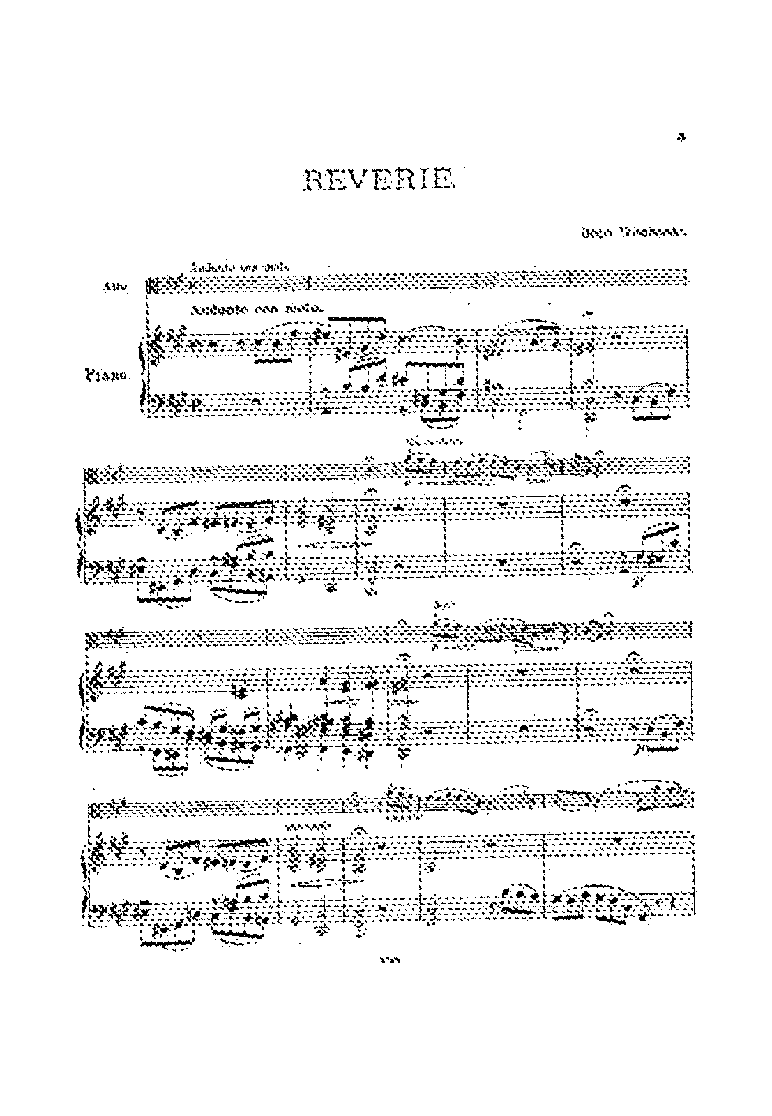 reverie for viola and piano wieniawski henri petrucci  sheet music