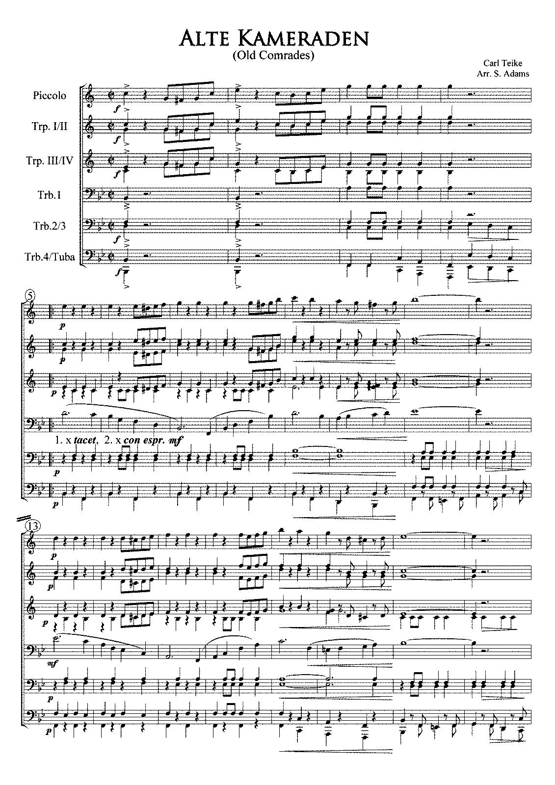 PMLP81969-Teike Alte Kameraden Full Score and Parts (Trp in Bb).pdf