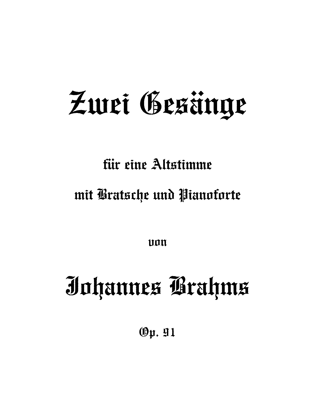 2 gesnge op91 brahms johannes imslppetrucci music library arrangements and transcriptions madrichimfo Choice Image