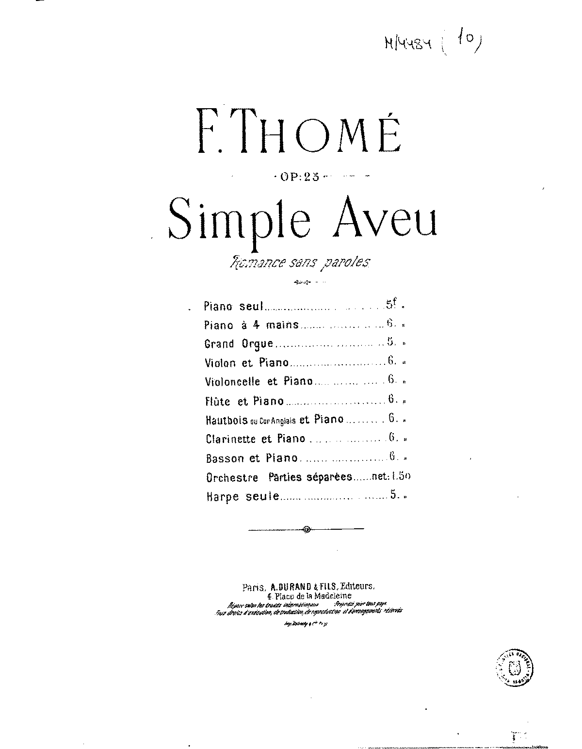 PMLP48371-FThome Simple aveu, Op.25 Durand.pdf