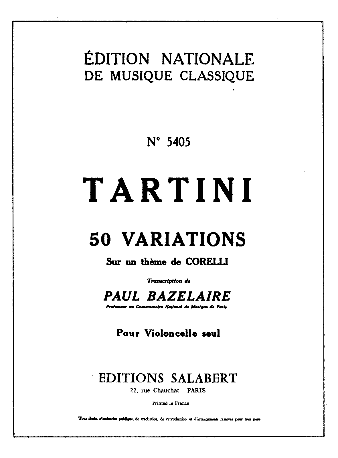 PMLP09402-Tartini - 50 Variations sur un theme de Corelli (Paul Bazelaire) for Cello solo and Piano.pdf