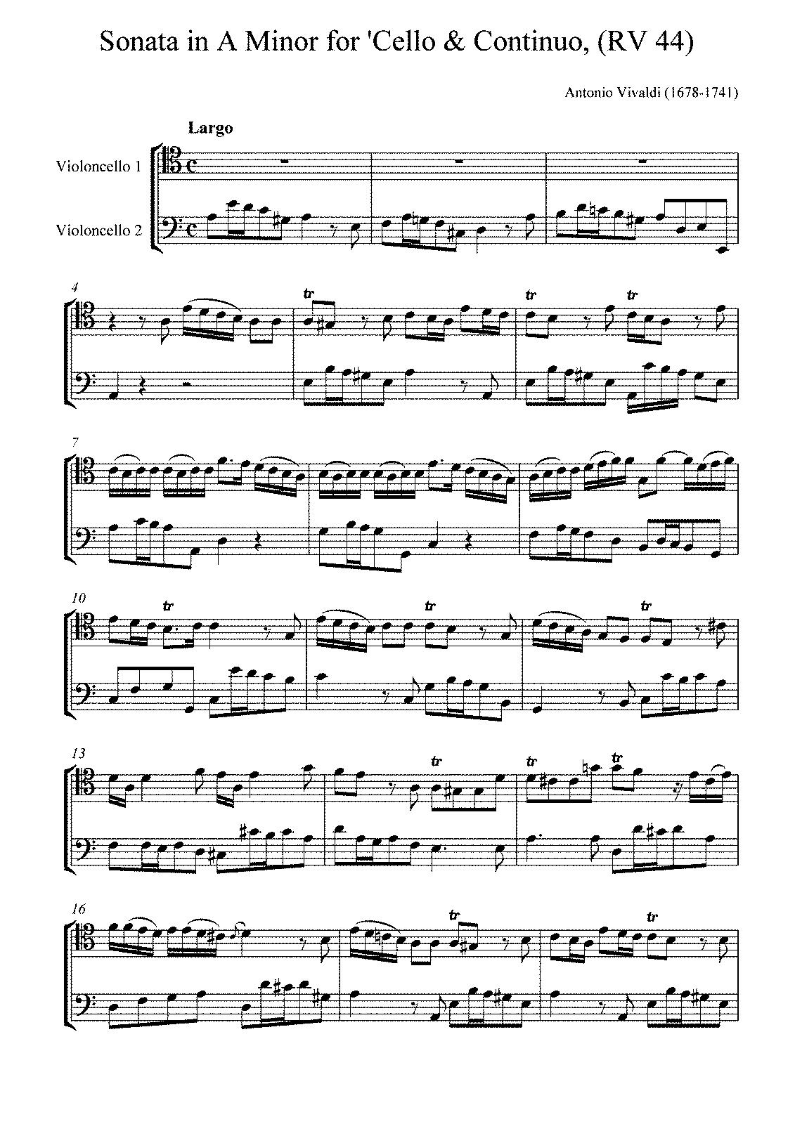 Cello sonata in a minor rv 44 vivaldi antonio imslppetrucci scoresparts 1 hexwebz Images