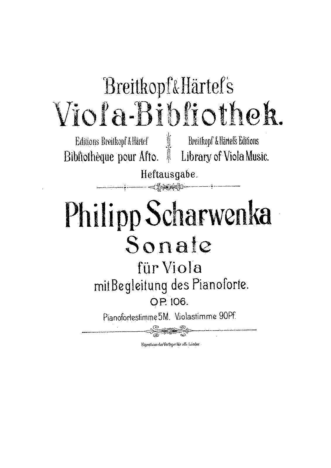 Scharwenka Philipp - Sonata For Viola And Piano Op.106.pdf