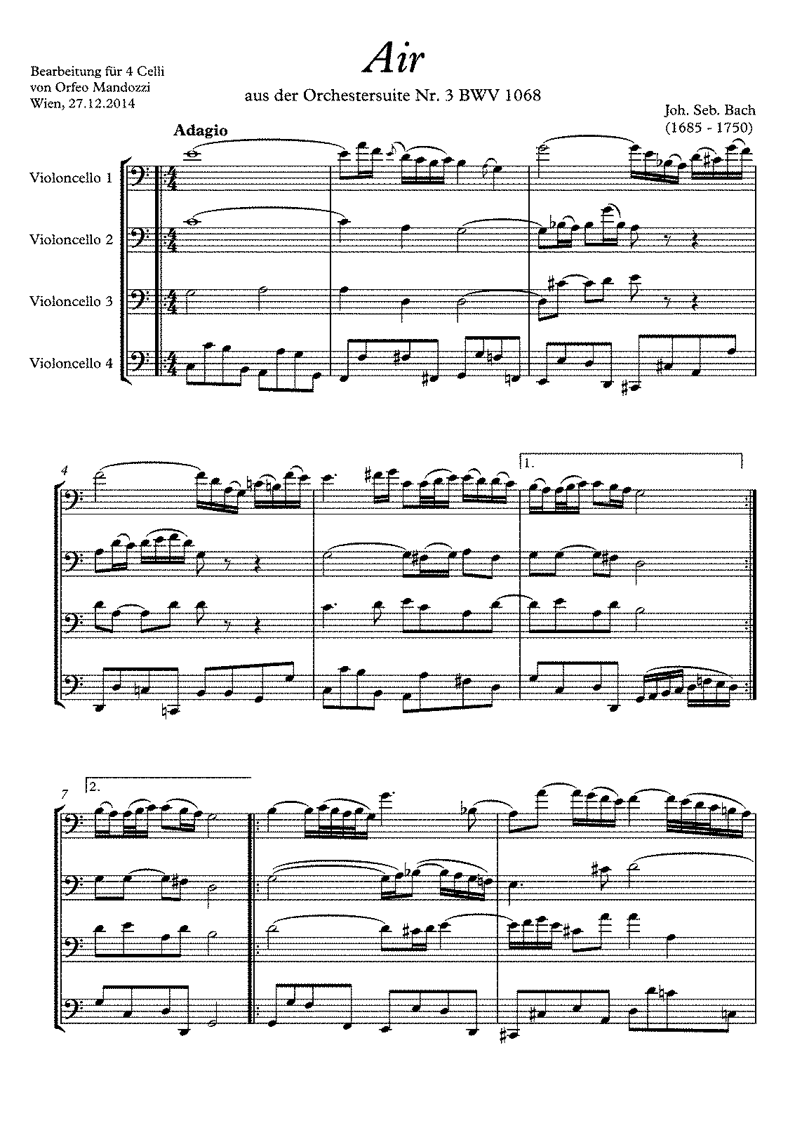 PMLP100008-Bach Mandozzi Air BWV 1068 4 Cellos - Partitur.pdf