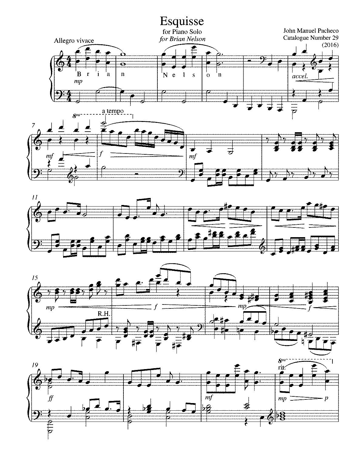 esquisse pacheco john manuel petrucci music library general information