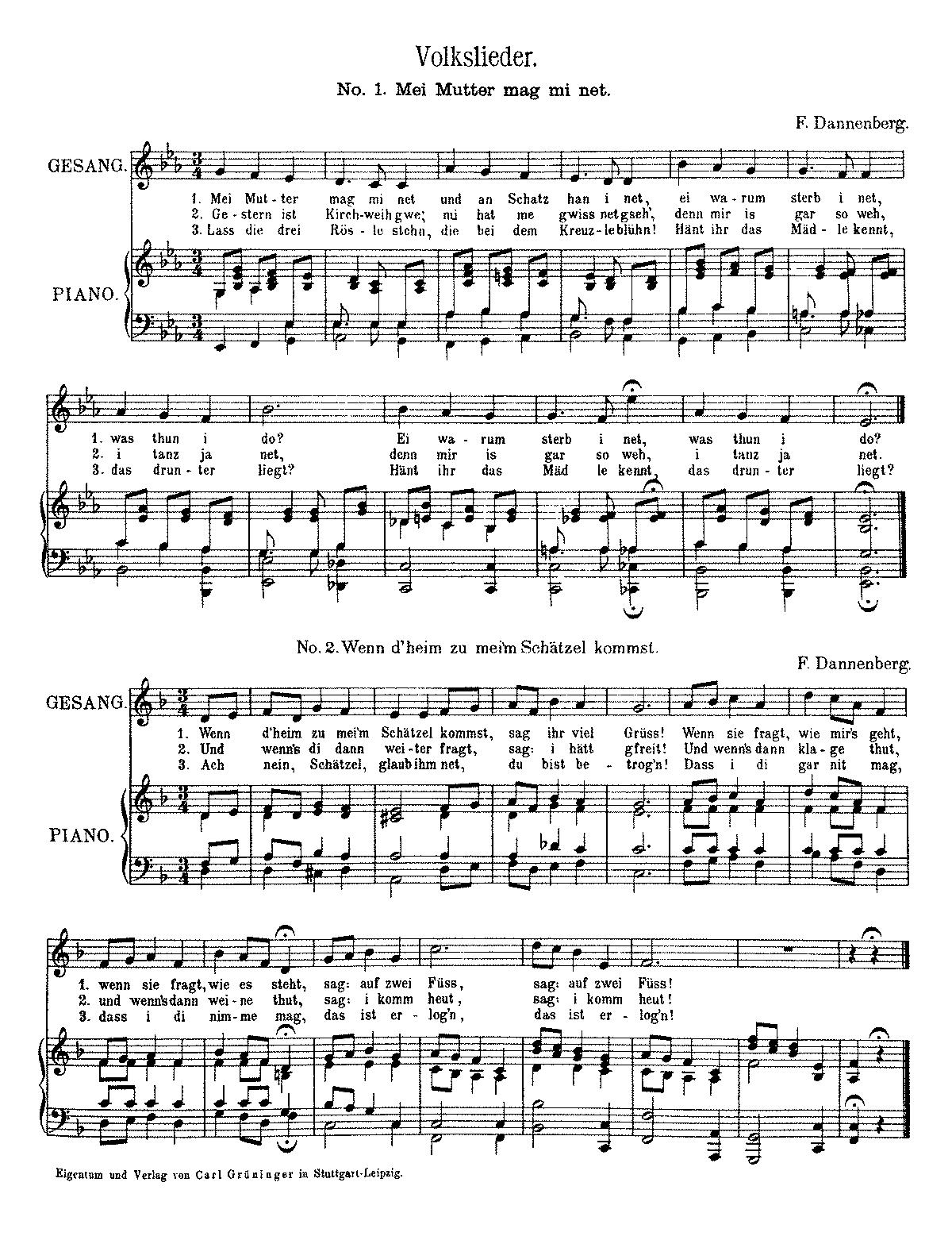 Das kostenlose Online-Liederbuch
