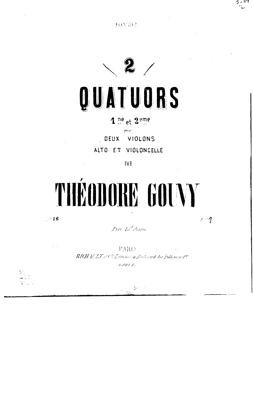 Gouvy String Quartet No1 Op16.pdf